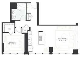 1 bedroom floor plan luxury 1 bedroom 1 bath apt for rent in loop