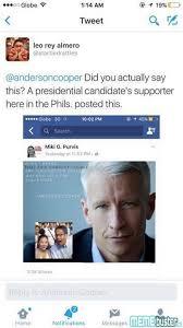 Anderson Cooper Meme - anderson cooper denies corrupt comment on mar korina meme