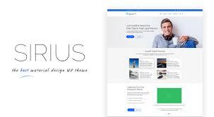 sirius pro material design and business wordpress theme