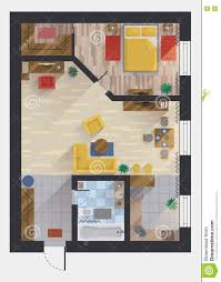 apartment or flat house floor plan top view stock vector image apartment