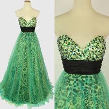 67 off jovani dresses u0026 skirts jovani green leopard print prom