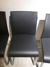 Esszimmerst Le Leder Retro Esszimmerstühle Schwarz Leder Möbelideen