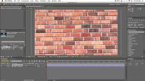 simple brick wall shatter effect after effects tutorial youtube