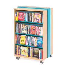 mobile bookcase library shelving