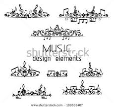 Musical Note Decorations Vector Set Music Page Decorations Page Stock Vector 189633407