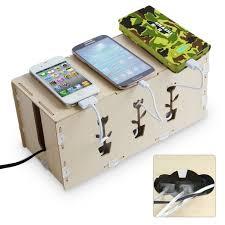 Desk Organizer Box Kmashi Wooden Portable Diy Charging Station Desk Organizer Storage