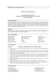 Professional Profile Resume Template Cover Letter Example Profile Resume Government Resume Example