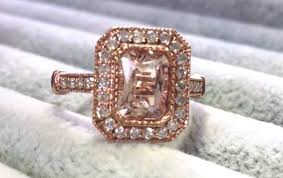 pink morganite emerald cut pink morganite diamond ring gems