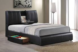 queen size platform bed frame with storage finelymade furniture