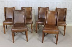 Dining Leather Chair Vintage Style Chairs