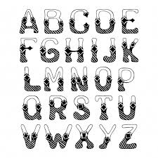 sketch alphabet with hatch ornament font letters