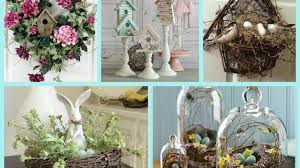 spring decor with nests and birdhouses bird nest easter decor