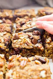 gluten and dairy free thanksgiving recipes gluten free pumpkin chocolate chip oatmeal breakfast bars vegan