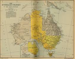 map of colonies australian colonies historical map mapsof