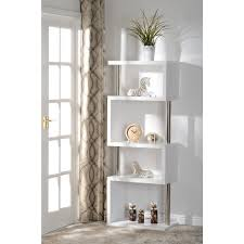 5 Shelves Bookcase Seconique Charisma 5 Shelf Bookcase Unit In White Gloss Furniture123