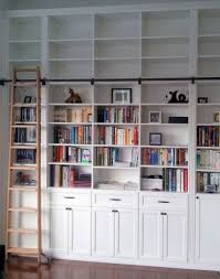 Bookcase Ladder Hardware The Library Bookshelves House Book Shelves And Shelves
