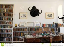Hemingway Desk Finca Vigia Home Of Hemingway In Cuba Editorial Stock Image