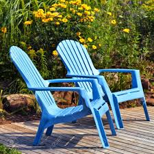 brilliant plastic outdoor adirondack chairs on deck