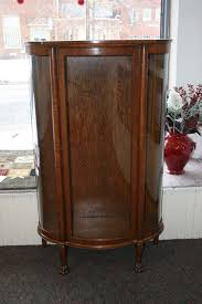 Antique Curio Cabinet Curved Glass Antique Furniture