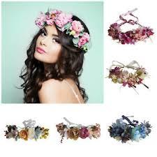 hair accesories flower crown floral headband headpiece wedding bridal festival
