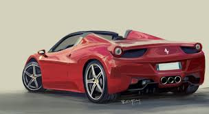 ferrari 458 sketch ferrari 458 italia spider digital painting youtube