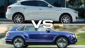 maserati truck on 24s 2017 maserati levante vs 2017 bentley bentayga youtube