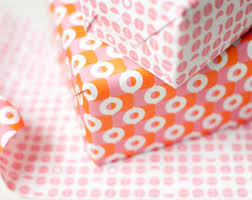 sided wrapping paper evaen sided wrapping paper pink orange wrap gifts