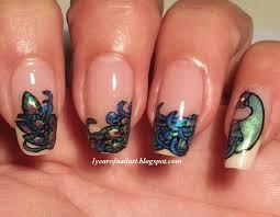 365 days of nail art peacock nails