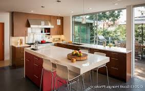 Modern Kitchen Wall Cabinets Mid Century Modern Kitchen Remodel Square Bamboo Island Square