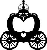 princess carriage silhoutte princess carriage