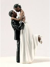 black wedding cake toppers american and groom wedding cake toppers