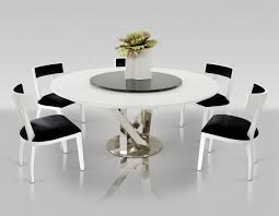 Round Garden Table With Lazy Susan by A U0026x Spiral Modern Round White Dining Table With Lazy Susan