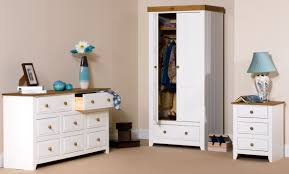 bedroom ideas white stained oak wood wardrobe with drawer