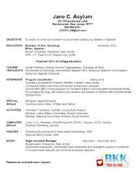 Spanish Resume Samples by Image Gallery Of Startling College Graduate Resume Sample 4