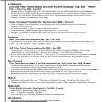 Sample Internship Resume by Remarkable Of Internship Resume For Advertising Job And Work
