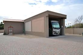 Motorhome Garages Rv Storage And Equipment Buildingrv With Car Garage For Sale Small