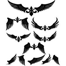 7 tribal wings vector images wings vector art free tribal wings