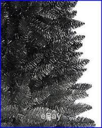 new silver slim 6 black artificial unlit tree silver