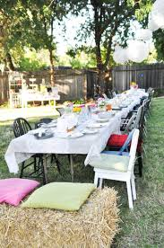 domestic fashionista country backyard birthday party hay blocks