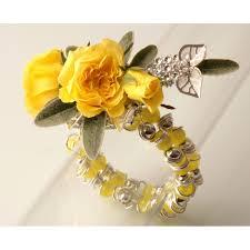 corsage bracelet gum drops yellow corsage bracelet corsage creations