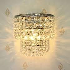Crystal Wall Sconces by Crystal Wall Sconce Lighting Fixture Contemporary Glass Mount Lamp