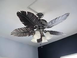 Ceiling Fan With Palm Leaf Blades by Leaf Blade Ceiling Fan With Light Ceiling Designs