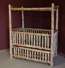 Crib Converts To Bed Log Baby Furniture And Childrens Log Furniture Barn Wood