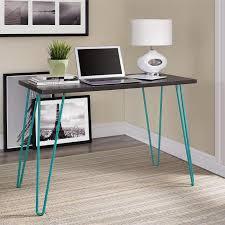 Retro Modern Desk Mainstays Retro Desk Colors Walmart