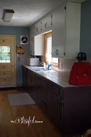 Kitchen Shelves Vs Cabinets Remodelaholic Diy Refinished And Painted Cabinet Reviews