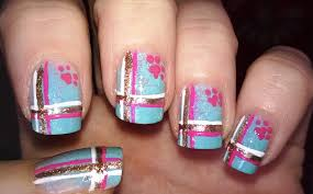 easy nail art designs 6 colorful ombre plaid nails with dog