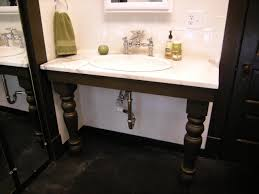 Diy Vanity Top Rustic Black Wooden Bathroom Vanity With White Marble Top Plus