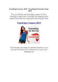 fans edge free shipping code fansedge coupon code 2013 fansedge discount coupon code