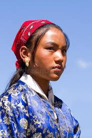 ladakh clothing ladakhi girl in national clothing on the traditional ladakh