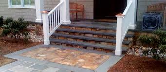 blue stone patio designs concrete front porch step ideas concrete